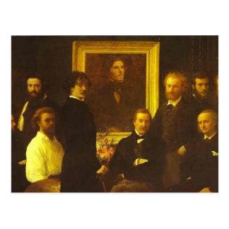 Hommage de Henri Fantin-Latour- à Delacroix Carte Postale