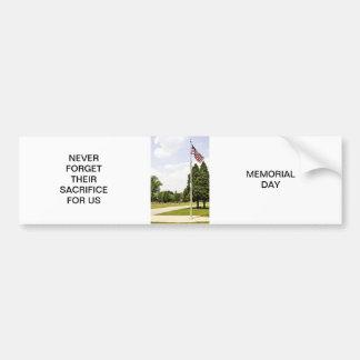 Hommage de jour de mémorial/vétérans autocollant pour voiture
