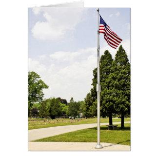 Hommage de jour de mémorial/vétérans carte de vœux