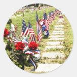 Hommage de jour de mémorial/vétérans sticker rond