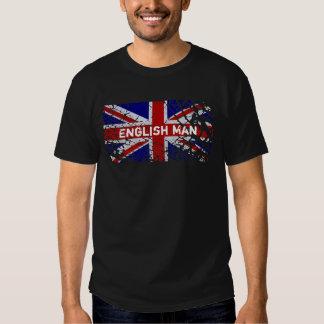 Homme anglais + Drapeau d'Union Jack de peinture T-shirts