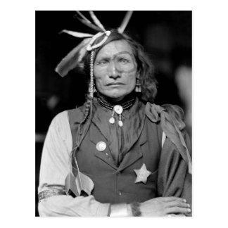Homme blanc de fer : 1900 carte postale
