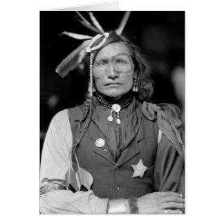 Homme blanc de fer 1900 cartes de vœux