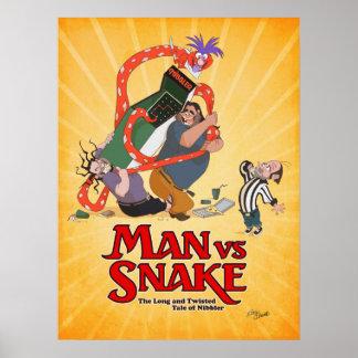 HOMME CONTRE l'affiche de Don Bluth de SERPENT de Poster