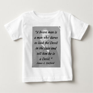 Homme courageux - James Garfield T-shirt Pour Bébé