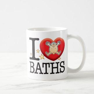 Homme d'amour de bains mug blanc
