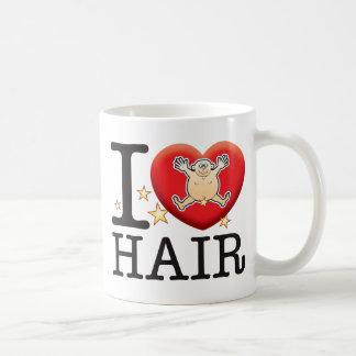 Homme d'amour de cheveux mug blanc