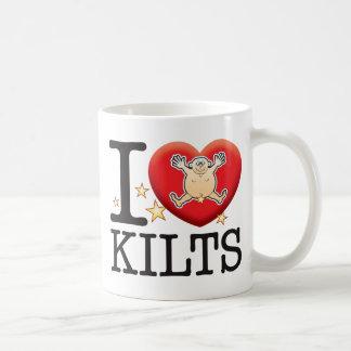 Homme d'amour de kilts mug blanc