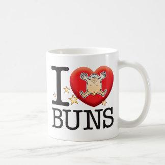 Homme d'amour de petits pains mug blanc