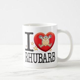Homme d'amour de rhubarbe mug blanc