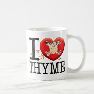 Homme d'amour de thym mug blanc