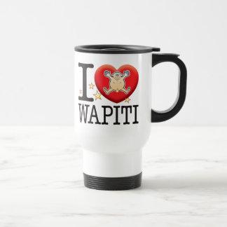 Homme d'amour de wapiti mug de voyage en acier inoxydable