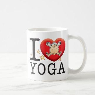 Homme d'amour de yoga mug blanc