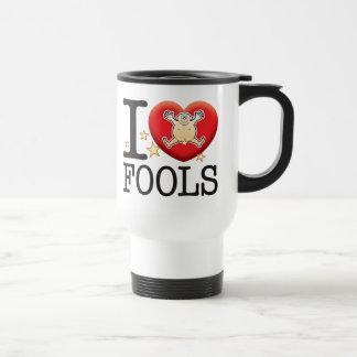 Homme d'amour d'imbéciles mug de voyage en acier inoxydable