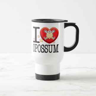Homme d'amour d'opossum mug de voyage en acier inoxydable
