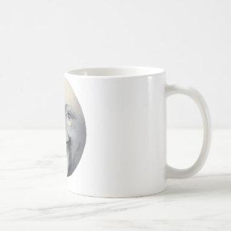 Homme dans la lune mug blanc