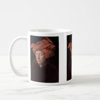 Homme dans un turban mug blanc