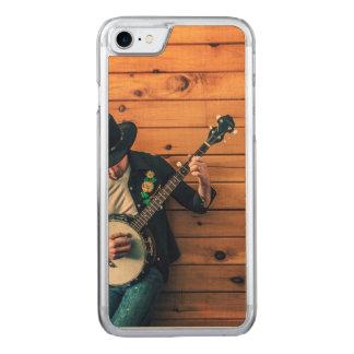 Homme de banjo coque iphone 7 en bois