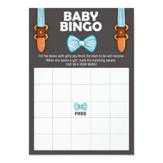 Homme de bébé de cravate d'arc de bingo-test de carton d'invitation  12,7 cm x 17,78 cm
