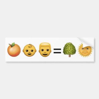 homme de bébé = soleil oranges d'arbre (trahison) autocollant pour voiture
