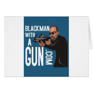 Homme de couleur avec une arme à feu LogoWear Cartes De Vœux