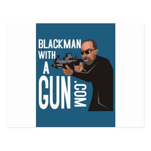 Homme de couleur avec une arme à feu LogoWear Carte Postale