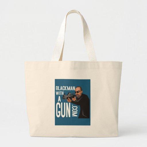 Homme de couleur avec une arme à feu LogoWear Sacs Fourre-tout