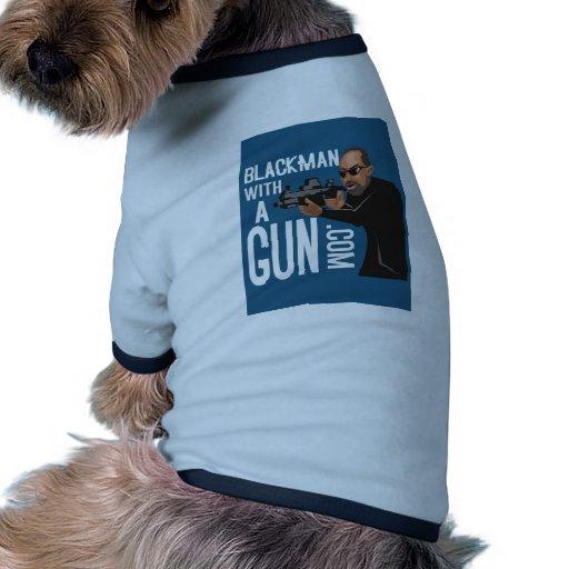 Homme de couleur avec une arme à feu LogoWear Vêtements Pour Animaux Domestiques