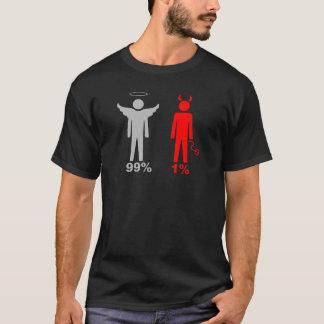 Homme de diable de l'ange 1% de 99% t-shirt