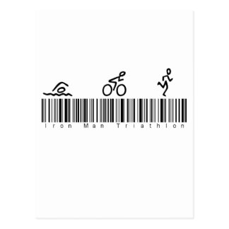 Homme de fer de code barres tri carte postale