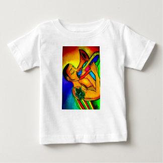 Homme de jazz d'arc-en-ciel t-shirt pour bébé