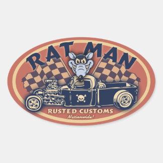 Homme de rat II - OV Autocollants Ovales