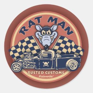 Homme de rat II Sticker Rond