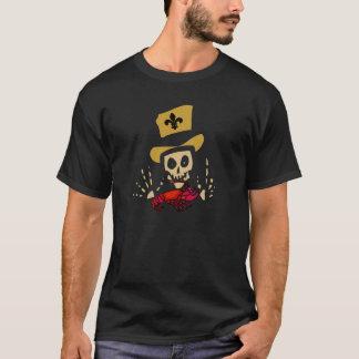 Homme de vaudou avec les écrevisses rouges t-shirt
