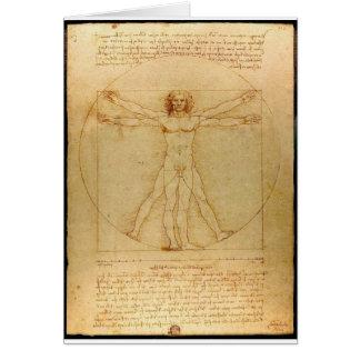 Homme de Vitruvian Carte De Vœux