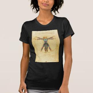 Homme de Vitruvian de da Vinci avec des tatouages T-shirt