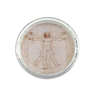Homme de Vitruvian par Leonardo da Vinci Bagues