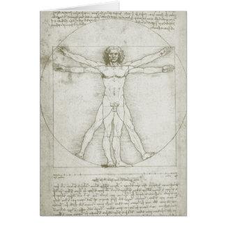Homme de Vitruvian par Leonardo da Vinci Carte De Vœux