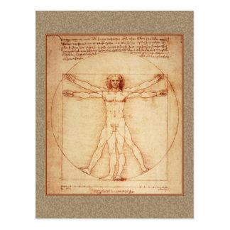Homme de Vitruvian par Leonardo da Vinci Cartes Postales