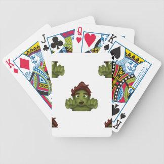 homme de zombi d'emoji jeu de cartes