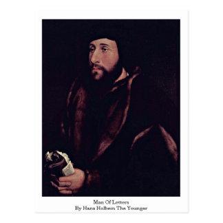 Homme des lettres par Hans Holbein le plus jeune Carte Postale