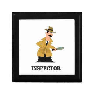 homme d'inspecteur petite boîte à bijoux carrée