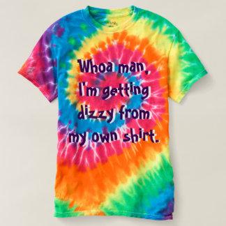 Homme drôle de T-shirt de colorant Trippy hippie