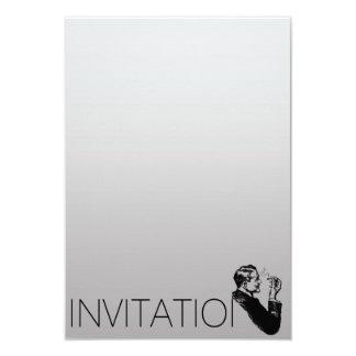 Homme élégant de cigares des messieurs VIP de Carton D'invitation 8,89 Cm X 12,70 Cm