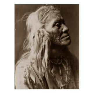 Homme indien indigène de Luqaiot Kittitas Carte Postale