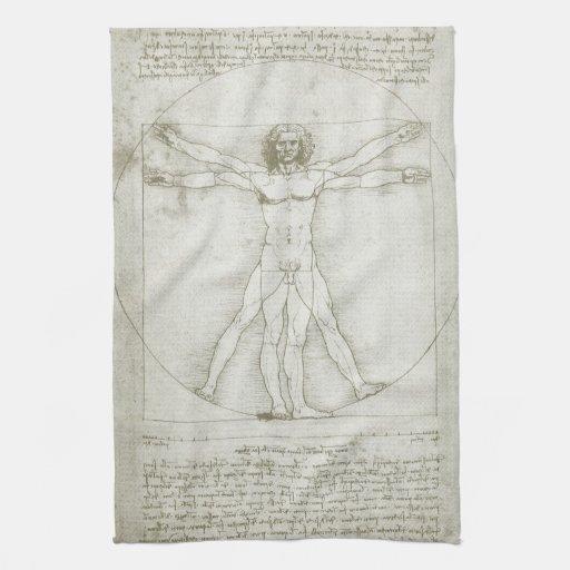 Homme Leonardo da Vinci, art de Vitruvian de Renai Linge De Cuisine