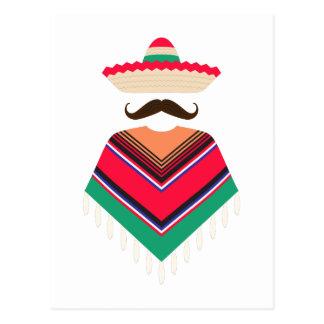 Homme mexicain carte postale
