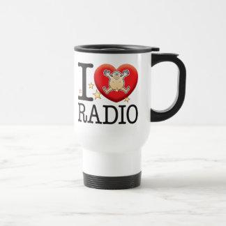 Homme par radio d'amour mug de voyage en acier inoxydable