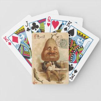 Homme Poire - Lettres de cure-feu Jeux De Cartes