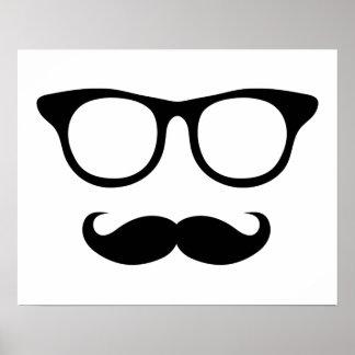 Homme ringard de moustache affiche